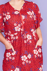 Gemma Red Floral Dress
