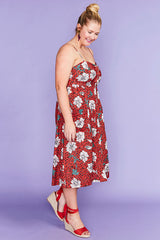 Eddie Red Leopard Dress