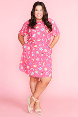 Megan Aussie Summer Pink Dress