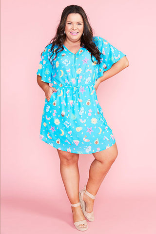 Gemma Aussie Summer Blue Dress