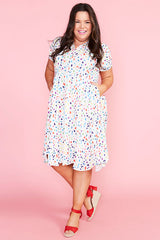 Frankie Confetti Print Dress