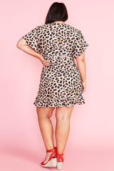 Sue Leopard Print Wrap Dress