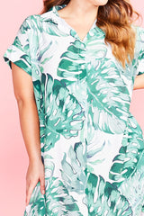 Frances Palm Print Dress