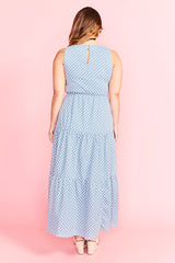 Freedom Blue Polka Dot Dress