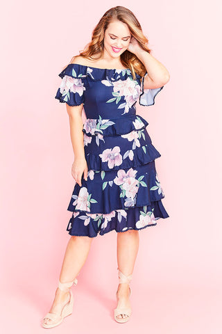Belinda Navy Floral Dress