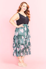 Faithful Pink Palms Skirt