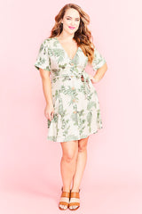 Devoted Green Print Dress