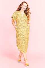 Shadows Yellow Floral Dress