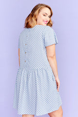 Catherine Blue Polka Dot Dress