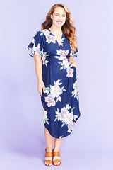Shadows Navy Floral Dress