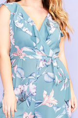 Amber Green Floral Jumpsuit