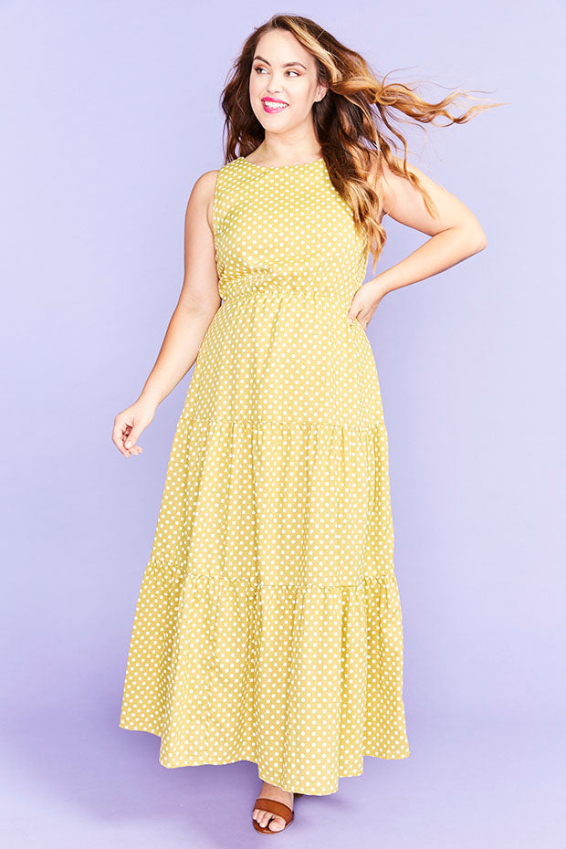 Freedom Mustard Polka Dot Dress