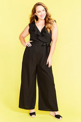 Amber Black Jumpsuit