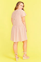 Catherine Blush Polka Dot Dress