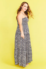Marcella Navy Floral Maxi Dress