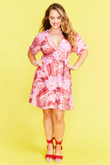 Devoted Pink Print Dress