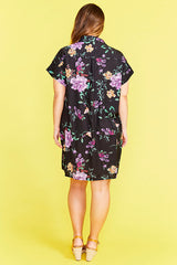 Frances Black Floral Dress