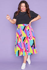 Kansas Geo Rainbow Skirt