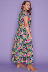 Miley Native Flora Maxi Dress