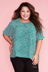 Serena Green Spots Top