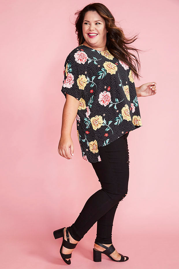 Serena Spotty Floral Top