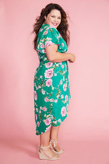 Brisbane Green Floral Dress