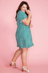 Gillian Green Spots Dress