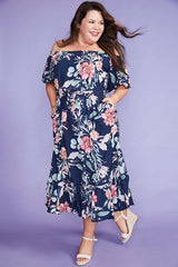 Escape Navy Floral Dress