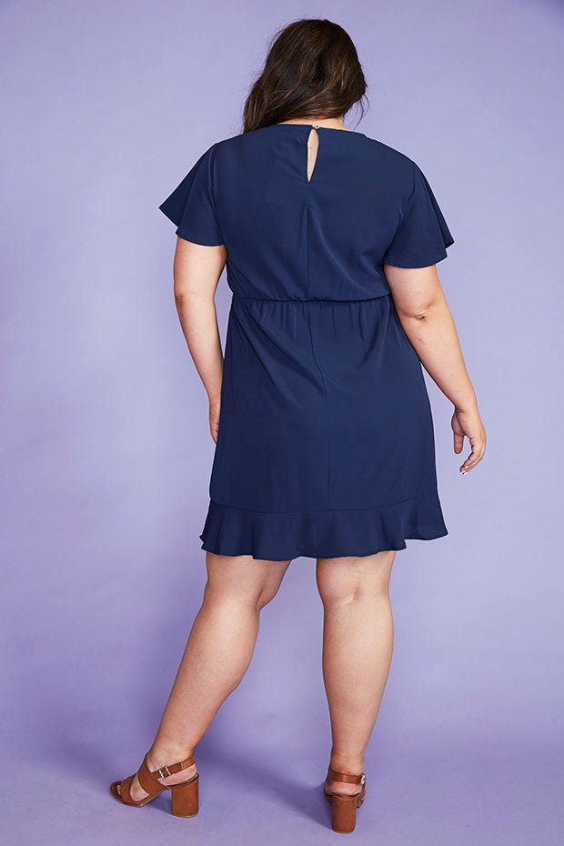Gillian Navy Dress
