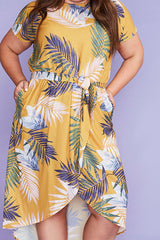 Soul Mate Yellow Palms Dress