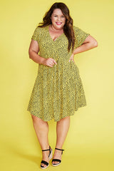 Charlotte Yellow Spots Dress