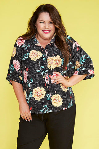 Cassie Spotty Floral Shirt