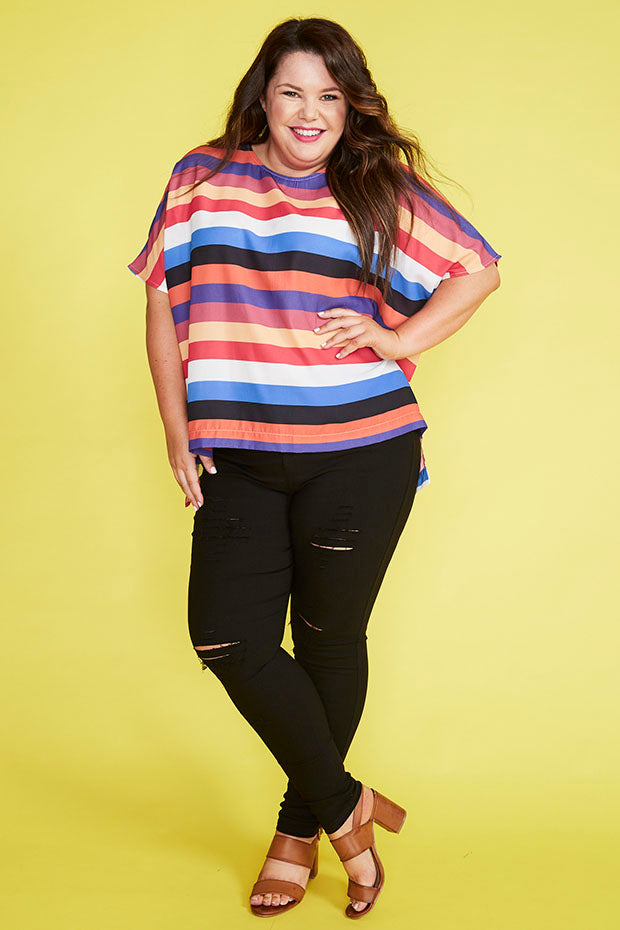 Serena Stripe Top