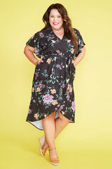 Brisbane Black Floral Dress