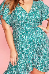 Sue Green Spots Wrap Dress