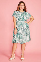 Bam Palm Print Dress