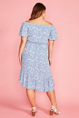 Miriam Blue Floral Dress