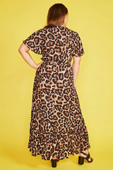 Cate Leopard Print Wrap Dress