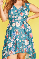 Josephine Green Floral Dress