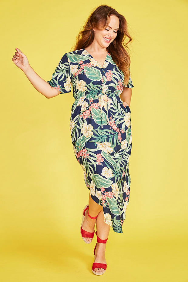 Rebecca Navy Tropical Dress