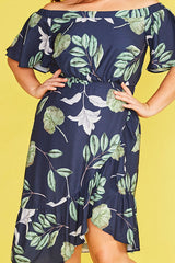 Miriam Leaf Print Dress