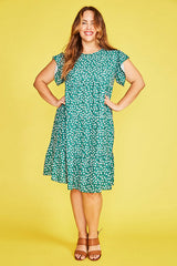 Inspire Green Floral Dress