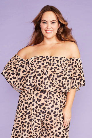 Lemonade Leopard Print Top
