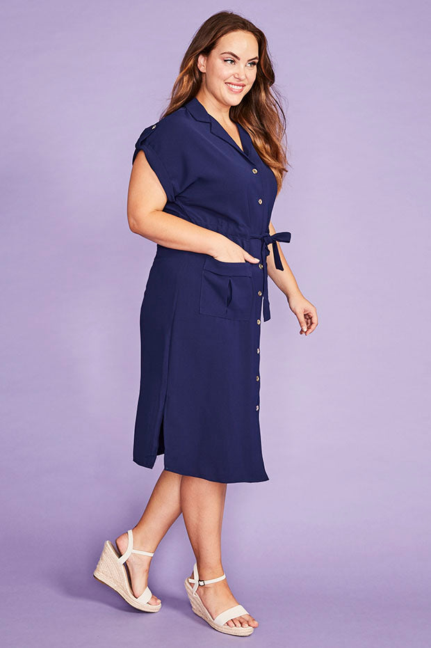 Carrie Navy Dress