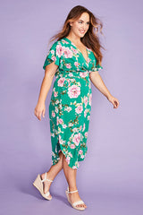 Shadows Green Floral Dress