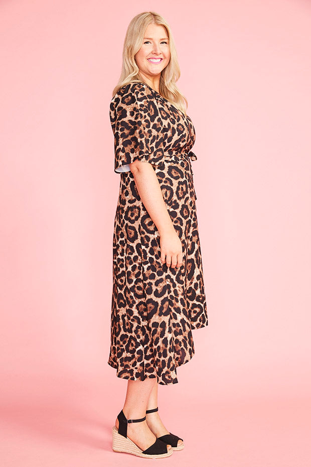 Mandy Animal Print Wrap Dress