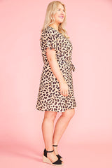 Megan Leopard Print Dress