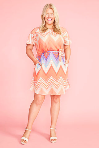 Megan Zig Zag Dress