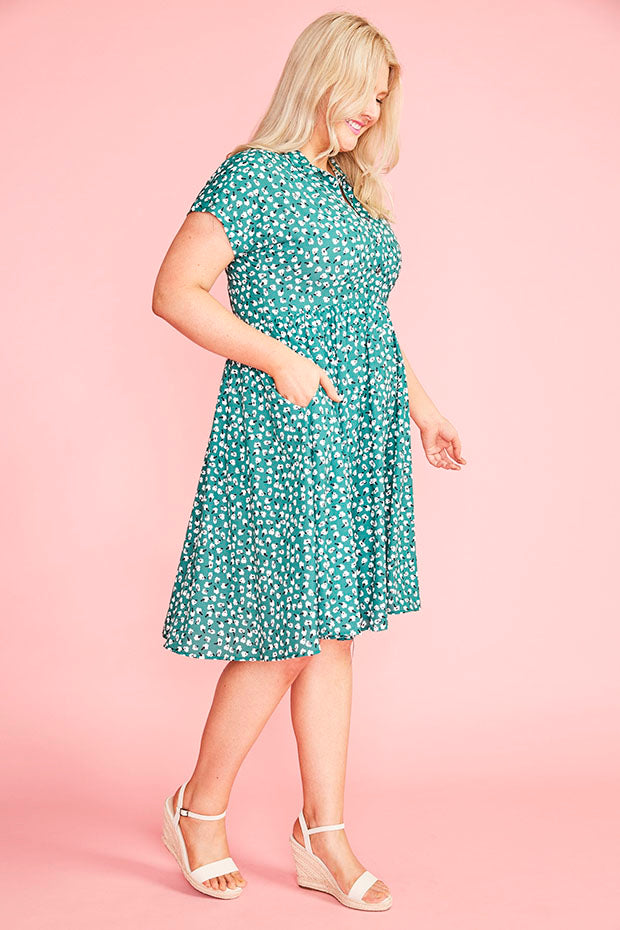 Frankie Green Floral Dress