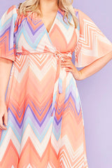 Mandy Zig Zag Wrap Dress
